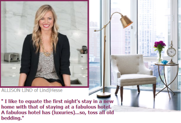 What Allison Lind believes you should equate your first night to in your new home.