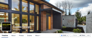 Follow Seattle Architects Coates Design on Facebook for industry updates.